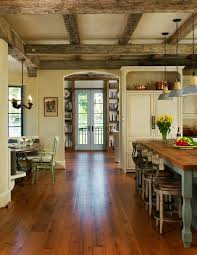 kitchen light temperature hollow beam kitchen rustic with old wood temperature control