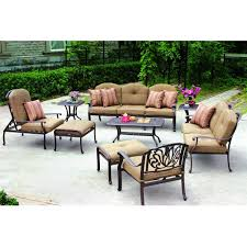 Braddock Heights 7 Piece Patio Dining Set Seats 6 - rst outdoor cantina 8 piece sofa with club chair and coral coast