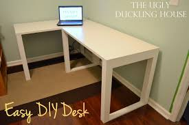 Diy L Desk Diy L Shaped Computer Desk Diy L Shaped Computer Desk 5727 White
