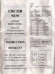 rca remote manual urc22b universal remote control instruction booklet