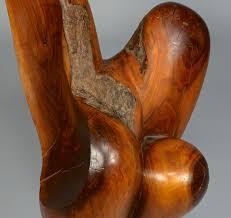 modern wood sculpture lot 527 abstract modern burl wood sculpture