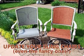 Outdoor Fabric For Patio Furniture Domestic Bliss How To Reupholster Patio Sling Chairs