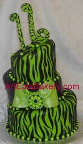 three tier neon green and black fondant custom mad hatter birthday