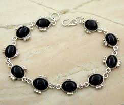 black onyx silver bracelet images Black onyx silver bracelet khalis chandi ke kangan rana silver jpg