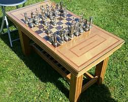 chess board coffee table chess table etsy