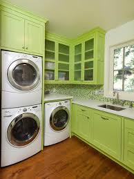 endearing laundry room kitchen combination design featuring white