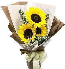 sunflower bouquet buy stem 3 pieces sunflowers bouquet to philippines