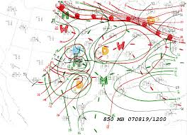 Utc Map Analyzed Upper Air Charts For Supplemental Fig 11 Monteverdi And