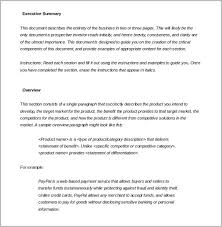 31 executive summary templates free sample example format