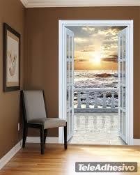 adesivi porta porta a balcone sulla spiaggia