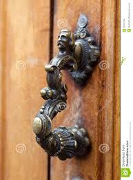 backyards decorative door knocker stock images image metal