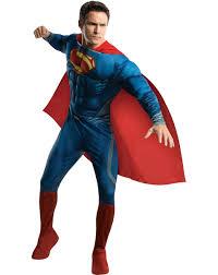 best costumes for men of steel superman deluxe men s costume at spirit