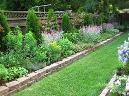 landscape awesome gray and brown square stone landscaping ideas