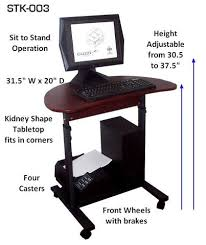 Adjustable Laptop Desks S 003 31 Height Adjustable Sit Stand Laptop Lcd Computer Desk