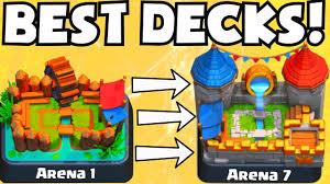 clash royale best arena 1 arena 7 decks no legendary cards