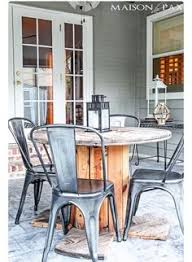 outdoor tables made out of wooden wire spools diy nautical spool side table beach wooden spools and craft