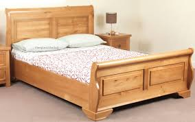 Pine Sleigh Bed Frame Jackdaw Wooden Sleigh Bed By Sweet Dreams Oak 4ft 6