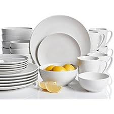 gibson home 30 ogalla dinnerware set white