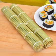 materiel cuisine japonais diy sushi rouleau bambou matériel roulant tapis sushi maker riz
