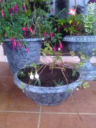 faux granite flower pots house tropical