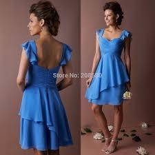 online get cheap short wedding dresses white and blue aliexpress