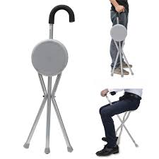 si e canne pliant pliant en aluminium trépied canne de randonnée chaise portable bâton
