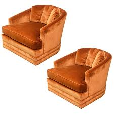 Swivel Club Chair Leather Drexel Heritage Swivel Club Barrel Chairs 1960s Usa For Sale At