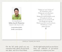 Sample Memorial Programs Thank You Card Sample Thank You Funeral Cards Funeral Thank You