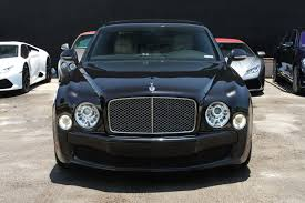 black bentley sedan bentley mulsanne south beach exotic rentals