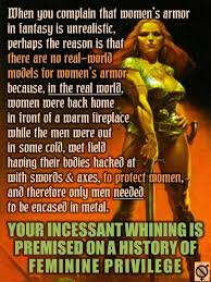 Sexy Women Meme - the unexamined privilege behind female fantasy armor