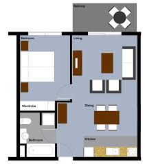 Small 1 Bedroom House Plans by Small Apartment Floor Plan Collection Home Design Ideas