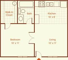 How Big Is 550 Square Feet This Is Just Under 500 Square Feet But The Layout Is Really