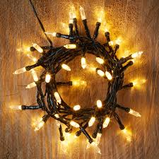 Solar Powered Fairy Lights Review 50 warm white led string lights departments diy at b u0026q