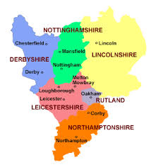 map of east uk map uk midlands travel maps and major tourist attractions maps