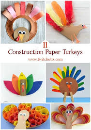 11 construction paper turkeys thanksgiving crafts for