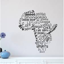 africa with words vinyl wall decal africa with words