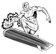 silver surfer 2 superheroes u2013 printable coloring pages