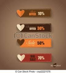 vectors illustration of price tag ribbon sale coupon voucher