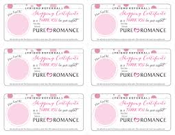 Free Printable Gift Certificate Template Word Pure Romance Printables Maitri Designs