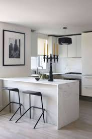 small kitchen design layout with white color schemes and island
