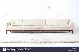 Modern Sofa White Very Long White Modern Sofa Couch Stock Photo Royalty Free Image