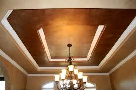 Dining Room Ceiling Formal Dining Room Ceiling Metallic Faux Finish Traditional