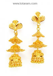 gold jhumka earrings design with price 22k gold jhumkas gold dangle earrings gjh1060