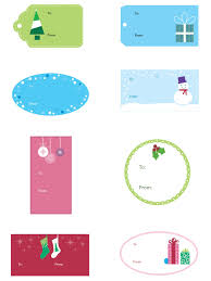 Christmas Gift Tag Template Printable
