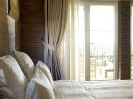 furniture bedroom fancy window treatment on bedroom with light
