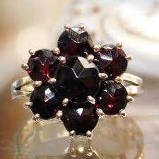 shop bohemian garnet ring on wanelo