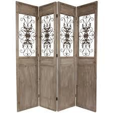 wooden scrolls for cabinets oriental furniture 85 25 x 72 railing scrolls 4 panel room divider