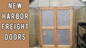 building new doors for the harbor freight greenhouse youtube