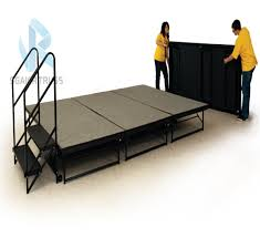 portable folding stage with stairs portable folding stage with