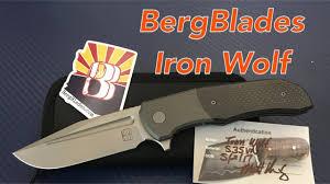 bergblades iron wolf mid tech knife